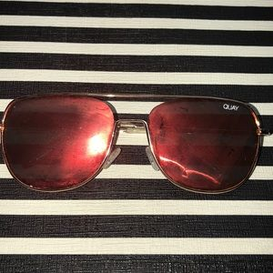 Quay Orange/Red Sunglasses